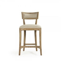Contemporary Counter Stool - Carvell - Straight Upholstered Back