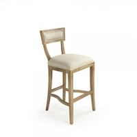 Contemporary Bar Stool - Carvell - Straight Upholstered Back