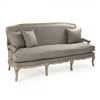 sofa eight legs oak limed grey linen toss pillows French one cushion