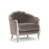 French Provincial Velvet Occasional Chair - Maison