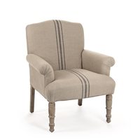 Rana Blue Stripe Arm Chair  - Sand Inspired Home Décor