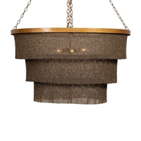 woven bead chandelier bronze gold