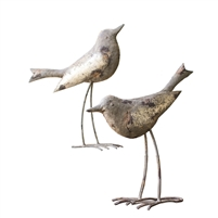 Set of 2 Metal Birds