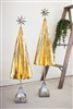 Gold Metal Tree Set with Silver Star (2) - Rustic Glam Christmas Decor