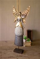 Tall Metal Painted Metal Angel - Unique Christmas & Holiday D�cor