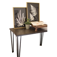 black white fern print framed gold