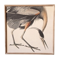 crane art print framed glass