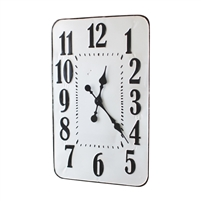 black white metal wall clock large numbers
