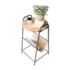 magazine side table reclaimed wood metal rustic