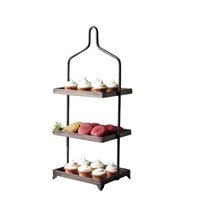 three tiered serving tray metal