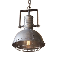 Large Metal Pendant with Cage