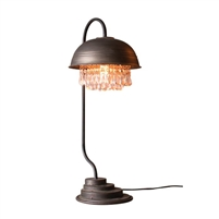 Metal Dome Table Lamp w/Gems Detail