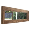 wide long recycled wood framed mirror