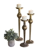 candle stands antique brass finish