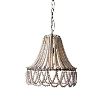 pendant light white bead swags twine knots round