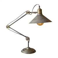 two metal finishes raw metal aged brass table lamp adjustable industrial retro