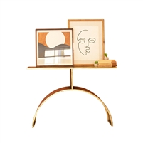 contemporary modern console table antique brass