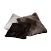 sheepskin pillow fur accent longwool cushion bolster square euro