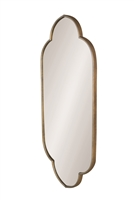 wide wall mirror aged gold frame arches