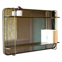 metal wall mirror shelf