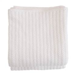 blanket white cotton machine washable pre-washed pre-shrunk cable knit twin queen king woven Maine USA