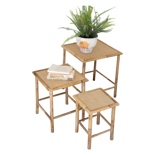 natural bamboo nesting tables set