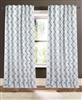 curtain natural diamond pattern light blue navy circles