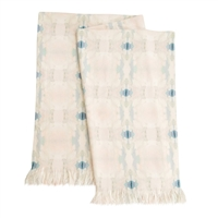 light blue beige faux chenille throw blanket machine wash USA made