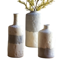 Set of 3 Ceramic Bottle Vases