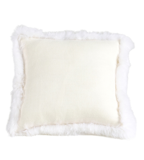 ivory accent pillow ivory alpaca woven fur trim