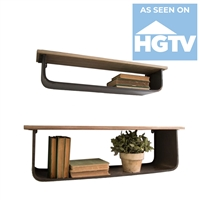 Metal Wood Wall Shelves