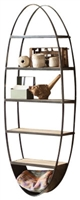 Metal & Wood Oval Wall Shelf - Teens Wall Hung D�cor by Kalalou