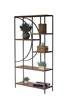 Kalalou shelving unit wood metal demilune tall