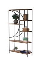 wood metal shelving unit