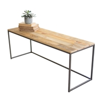 iron recycled wood bench