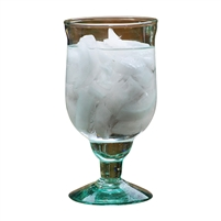 green recycled stemmed water goblets glasses