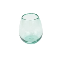 clear recycled clear stemless wine glasses
