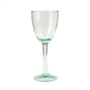 Kalalou wine glasses goblets recycled green glass bubble stem
