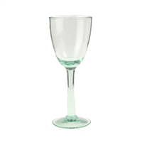 set of 6 recycled green seeded wine glass goblet stemmed