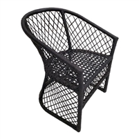 all weather wicker black cross chair