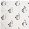 black white fish crib sheet bubbles cotton