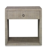 french gray large nightstand raffia mahogany solids