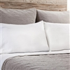 cotton velvet quilted coverlet sham taupe