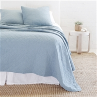 light blue diamond quilted coverlet king queen euro sham