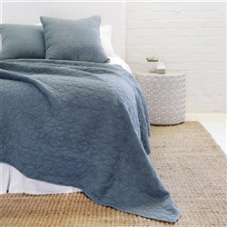 Oslo (Blue Denim) Bedding Collection by Pom Pom at Home