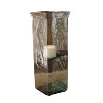 square candle hurricane glass holder large
