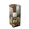square candle hurricane glass holder medium