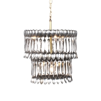 Double Tier Spoondelier - Luxury USA-Made Lighting Fixture | BSEID