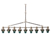 Hester & Cook 9 Light Telegraph Pendant - USA-Made Lighting Fixture | BSEID