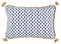 Saraha Midnight Lumbar Pillow - Luxury USA-Made Accents | BSEID